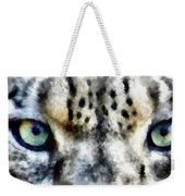 Snow Leopard Eyes Weekender Tote Bag