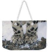 Snow Leopard Feet Weekender Tote Bag
