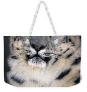 Snow Leopard Portrait Endangered Species Wildlife Rescue Weekender Tote Bag