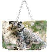Snow Leopard Pose Weekender Tote Bag