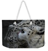 Snow Leopards Weekender Tote Bag