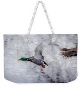 Snow Mallards Weekender Tote Bag