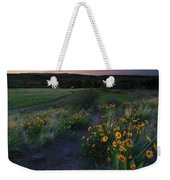 Snow Mountain Trail Weekender Tote Bag