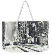 Snow - New York City - Winter Night Weekender Tote Bag