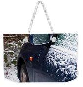 Snow On Car Weekender Tote Bag
