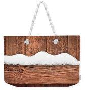 Snow On Fence Weekender Tote Bag by Tom Gowanlock