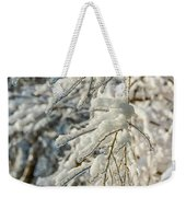 Snow On Ice Weekender Tote Bag