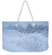 Snow On New Years Eve Weekender Tote Bag
