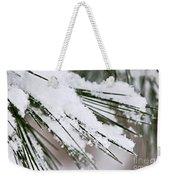 Snow On Pine Needles Weekender Tote Bag