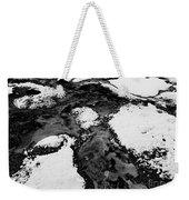 Snow On Rock Bw Weekender Tote Bag