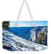 Snow On Sentinel Dome In Yosemite Np-ca Weekender Tote Bag