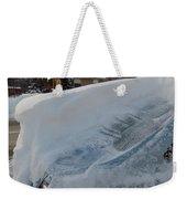 Snow On The Car Weekender Tote Bag