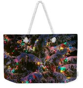 Snow On The Christmas Tree 1 Weekender Tote Bag