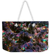 Snow On The Christmas Tree Weekender Tote Bag