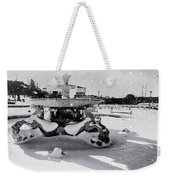 Snow On The Fountain Weekender Tote Bag