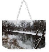 Snow On The River Weekender Tote Bag