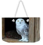Snow Owl Weekender Tote Bag