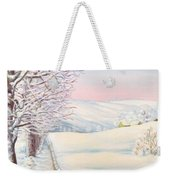 Snow Path Weekender Tote Bag