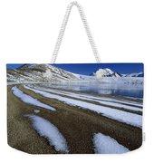 Snow Patterns Near Blue Lake Mt Weekender Tote Bag