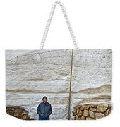 Snow Piles At Alpine Visitor's Center In Rocky Mountain National Park-colorado Weekender Tote Bag