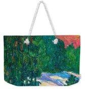 Snow Pines Weekender Tote Bag