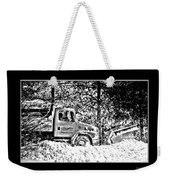 Snow Plow In Black And White Weekender Tote Bag