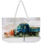 Snow Plow Painterly Weekender Tote Bag