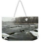 Snow Rapids Weekender Tote Bag