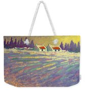 Snow Scape County Wicklow Weekender Tote Bag by John  Nolan