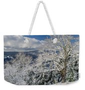 Snow Scene At Berry Summit Weekender Tote Bag