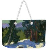 Snow Shadows Mammoth Mountain Weekender Tote Bag