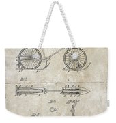 Snow Shoe Attachment For Bicycles Patent 1896 Weekender Tote Bag