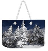 Snow Spruce Sunshine Weekender Tote Bag