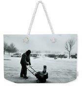 Snow Storm Minneapolis Weekender Tote Bag