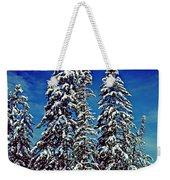 Snow Trees Weekender Tote Bag