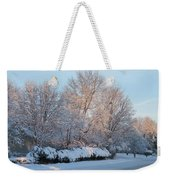 Snow Trees Sunrise 2-2-15 Weekender Tote Bag