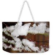 Snow Twig Abstract Weekender Tote Bag
