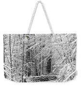 Snow Wall Weekender Tote Bag