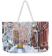 Snow West Village New York City Weekender Tote Bag