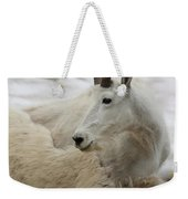 Snow White Mountain Goat Weekender Tote Bag