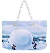 Snowball Fight Weekender Tote Bag