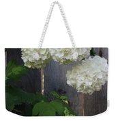 Snowball Flowers Weekender Tote Bag