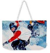 Snowboard Psyched Weekender Tote Bag