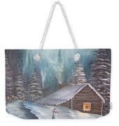 Snowbound Holiday Weekender Tote Bag