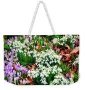 Snowdrops And Crocuses Weekender Tote Bag