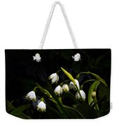 Snowdrops And Dark Background Weekender Tote Bag