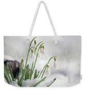 Snowdrops On Ice Weekender Tote Bag