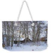 Snowed Cabin Weekender Tote Bag