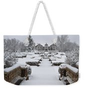 Snowfall At Longview Mansion Weekender Tote Bag