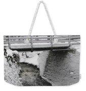 Snowfall Bridge Weekender Tote Bag